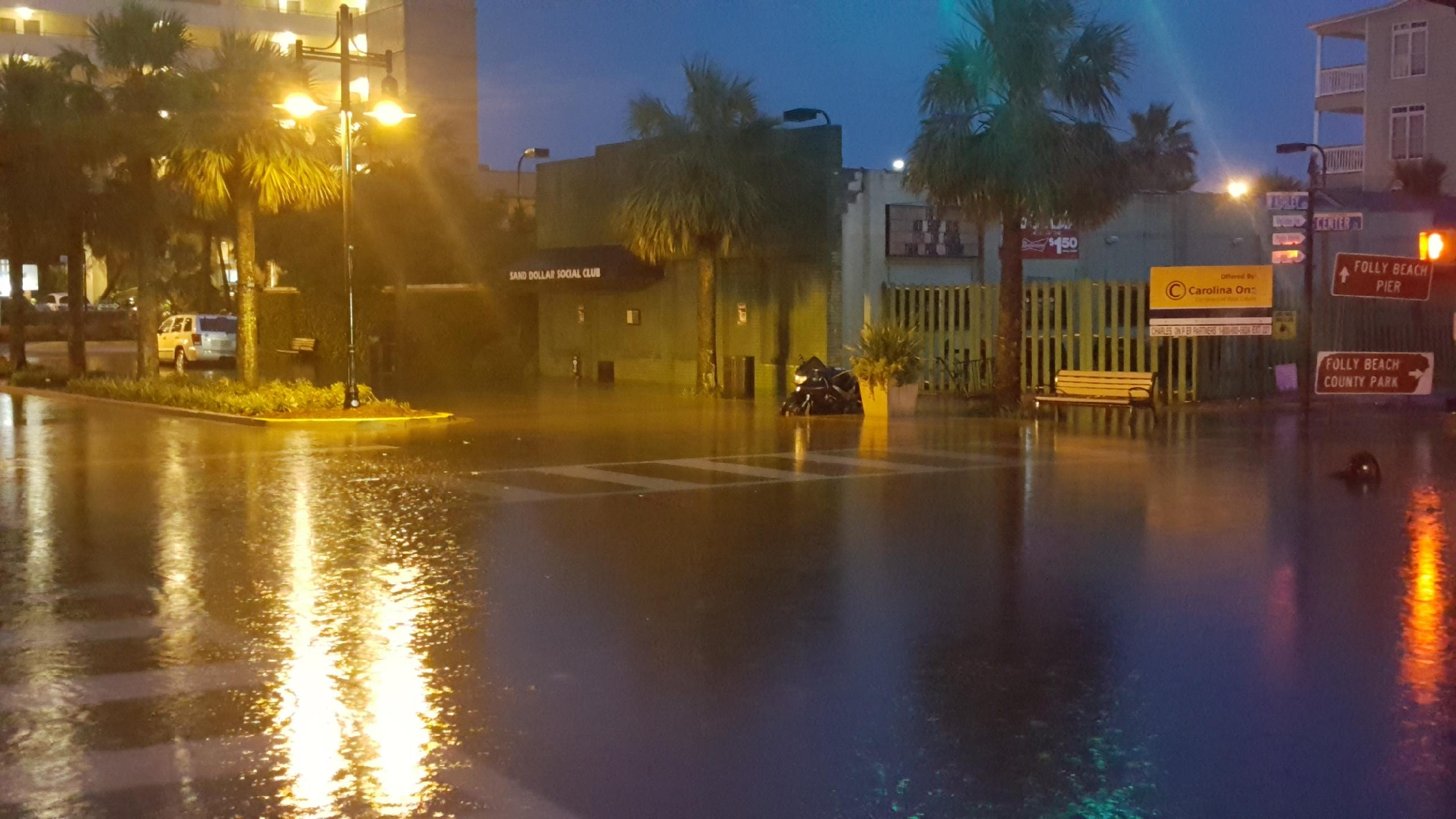 These photos of flash flooding on Folly Beach were provided by Folly Beach councilman DJ Rich.