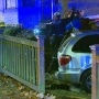 Police searching for two men after minivan plows into townhomes in Seattle