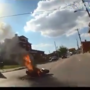 GRAPHIC VIDEO: CPD bodycam shows aftermath of fiery motorcycle crash in East Price Hill