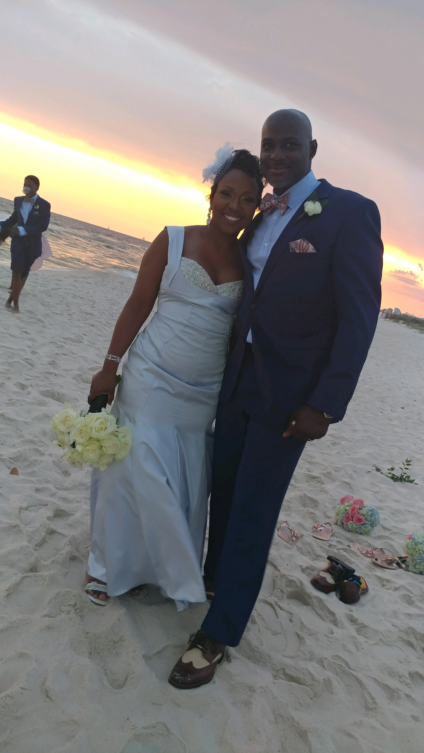 The couple tied the knot on Saturday, Sept. 23 on the beach.