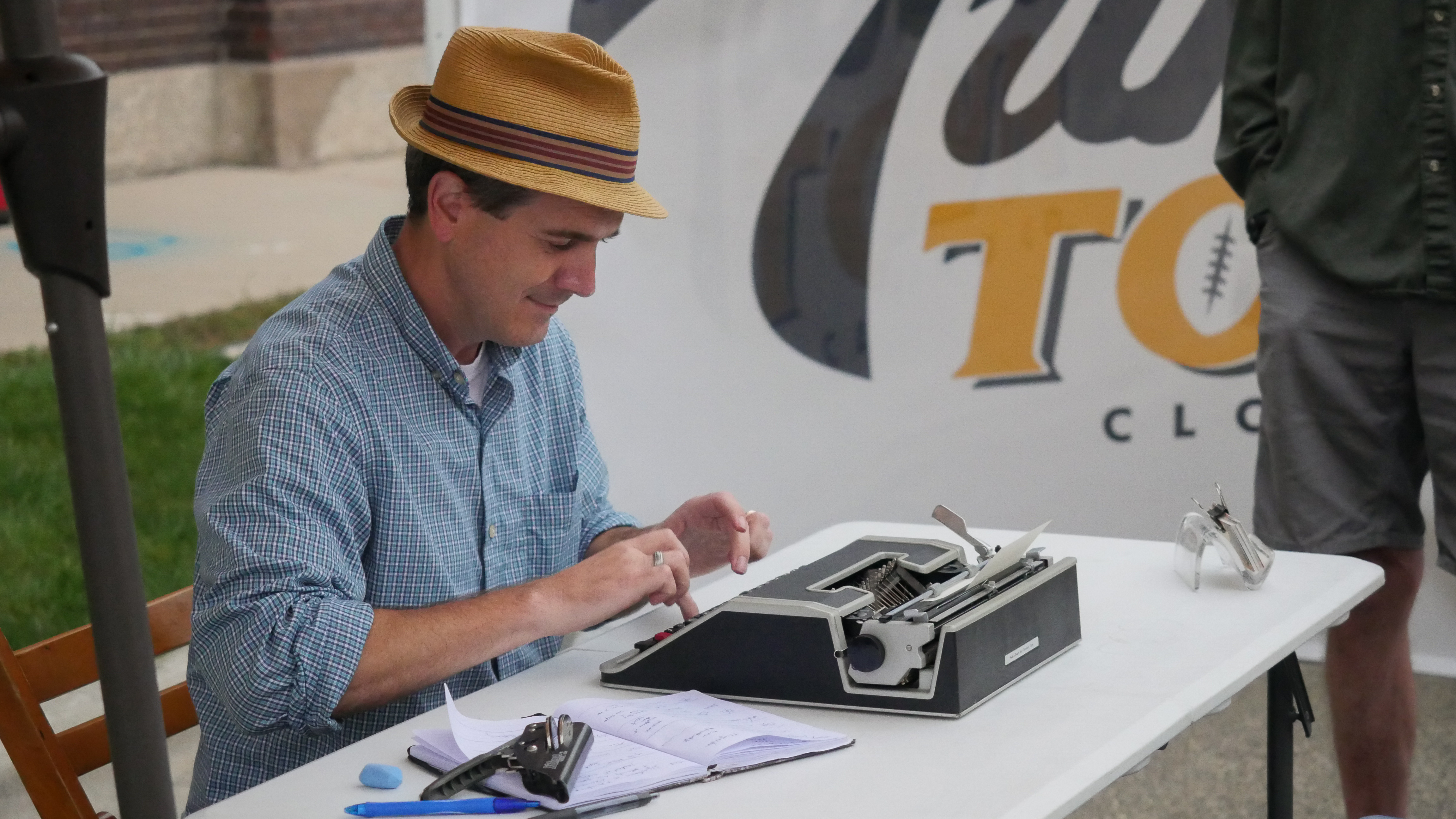 Original poetry being typed out right in front of you, during the IgNight Market in downtown Green Bay, Saturday, September 21, 2019 (WCWF/ Beni Petersen)