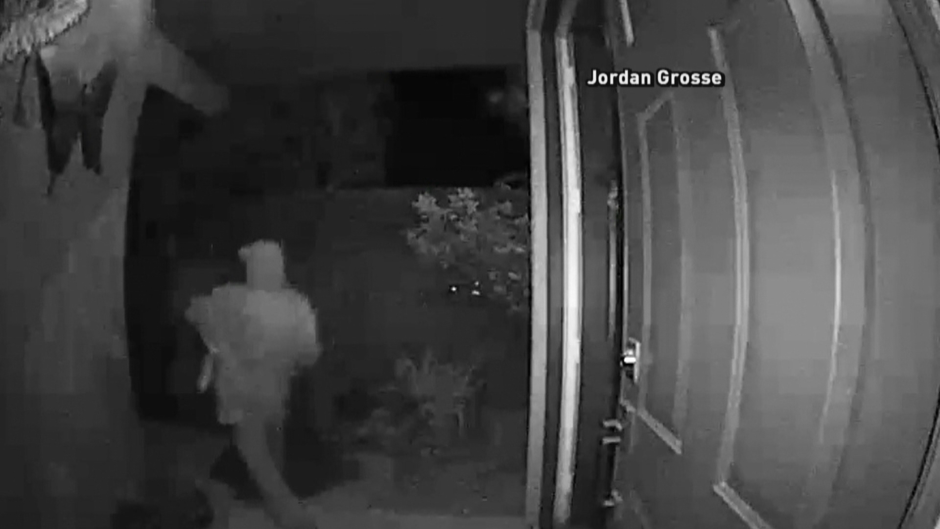 A home burglary was caught on camera in Summerlin, showing the thieves taking off with bags full of electronics, wine, and Christmas gifts. (Jordan Grosse)
