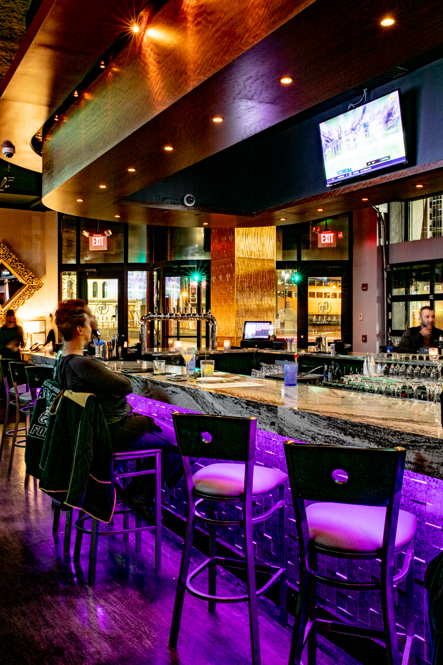 A restaurant by day, Galla Park becomes a chic bar and nightclub lounge for those looking a little post-meal entertainment for the night. ADDRESS: 175 Joe Nuxhall Way (45202) / Image: Amy Elisabeth Spasoff // Published: 11.28.18