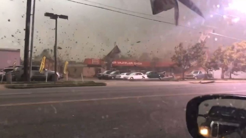 Watch: Ferocious winds shred Utah roof, blasting cars on nearby road