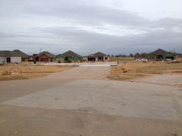 At the end of this cul-de-sac, only driveways remain as homes were whiped away in the tornado.