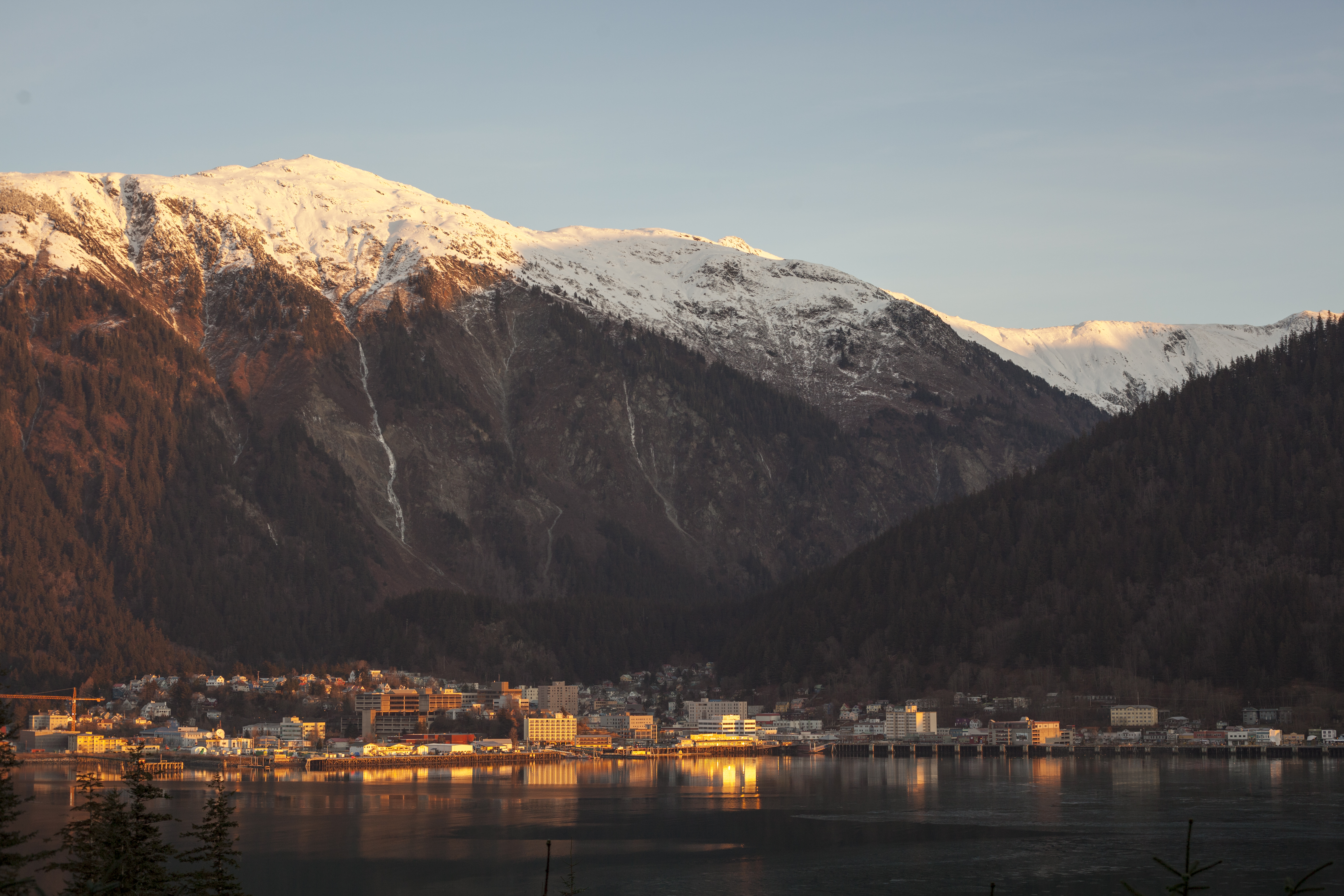 Gorgeous views from downtown Juneau