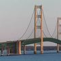 WHAT A STEEL—Mackinac Bridge grates up for grabs