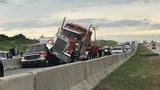 Crash involving a semi blocks westbound I-40 for several hours