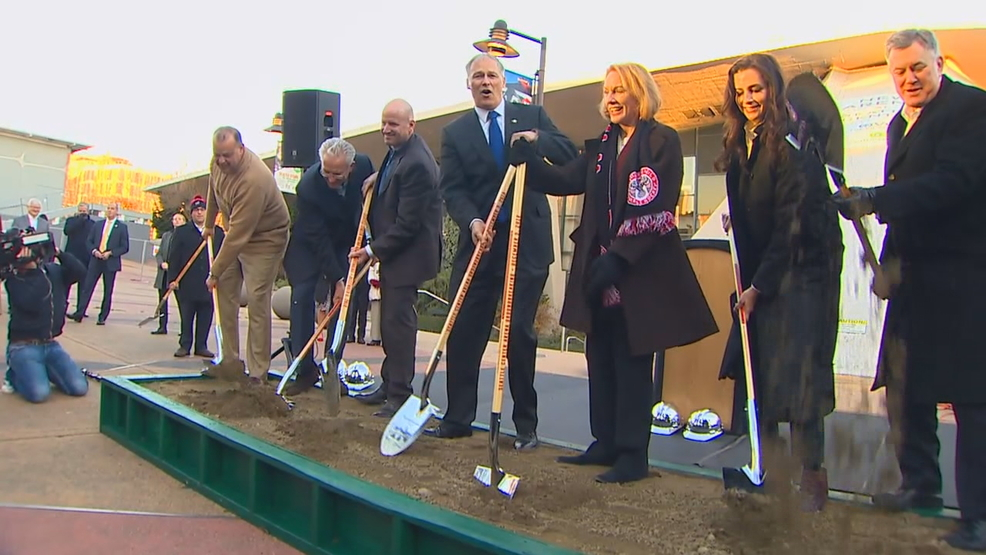 Ground-breaking ceremony marks next step for Seattle NHL team