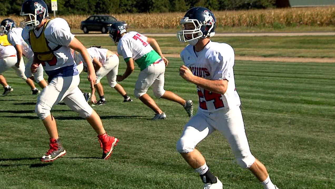 Conant working on speed drills at practice.