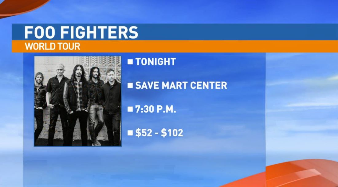 Dave's Not Here is a Foo Fighters Tribute Band, and the Foo Fighters are performing at the Save Mart Center Friday night.