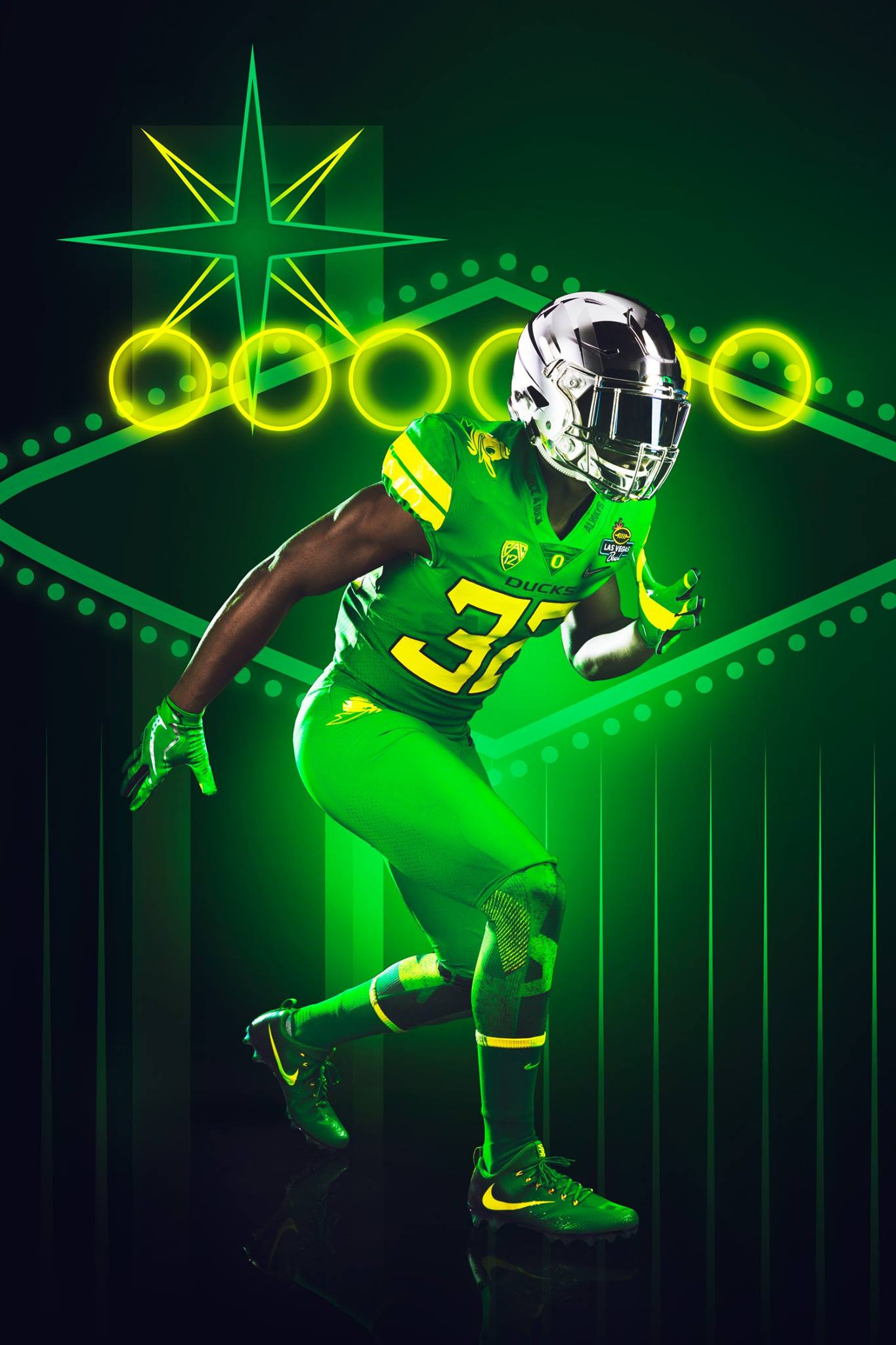 The University of Oregon unveiled uniforms Thursday for the Las Vegas Bowl this Saturday against Boise State. (via GoDucks Facebook)