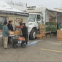 Local food bank handing out beef to needy families