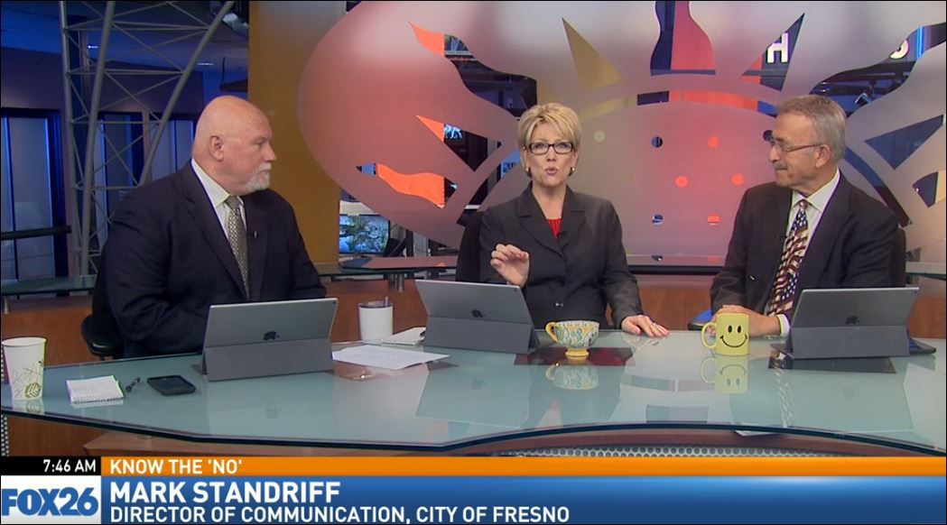 "Director of Communications and Public Affairs for the City of Fresno, Mark Standriff, visited Great Day to talk about Fresno's ""Blue Space"" program."