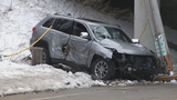 SUV runs off I-95, down embankment