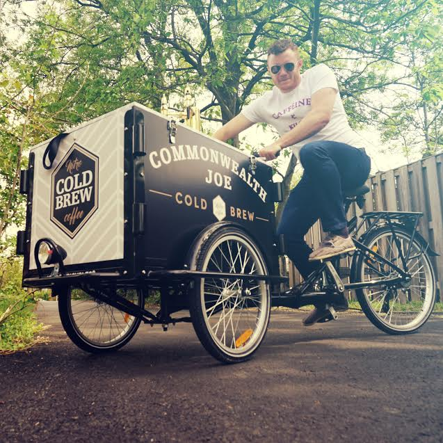The CJ mobile trikes were how we were first introduced to the coffee! (Image: Courtesy Commonwealth Joe)