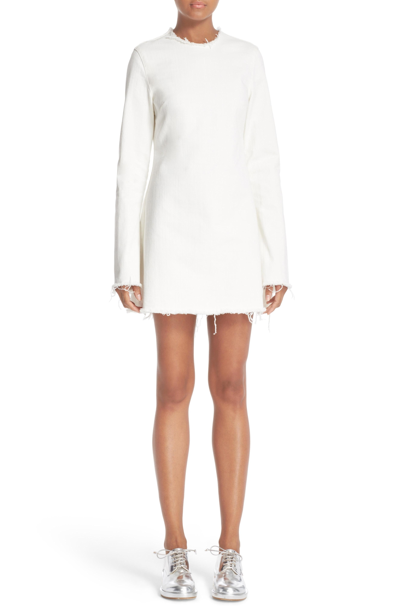 Marques'Almeida Janis Dress White Denim - $575. Get it at nordstrom.com/space. (Image: Nordstrom)