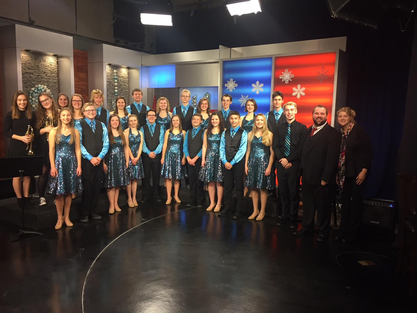 The Kiel Waves of Rhythm Show Choir performs on Good Day Wisconsin, December 20, 2017. (WLUK)<p></p>