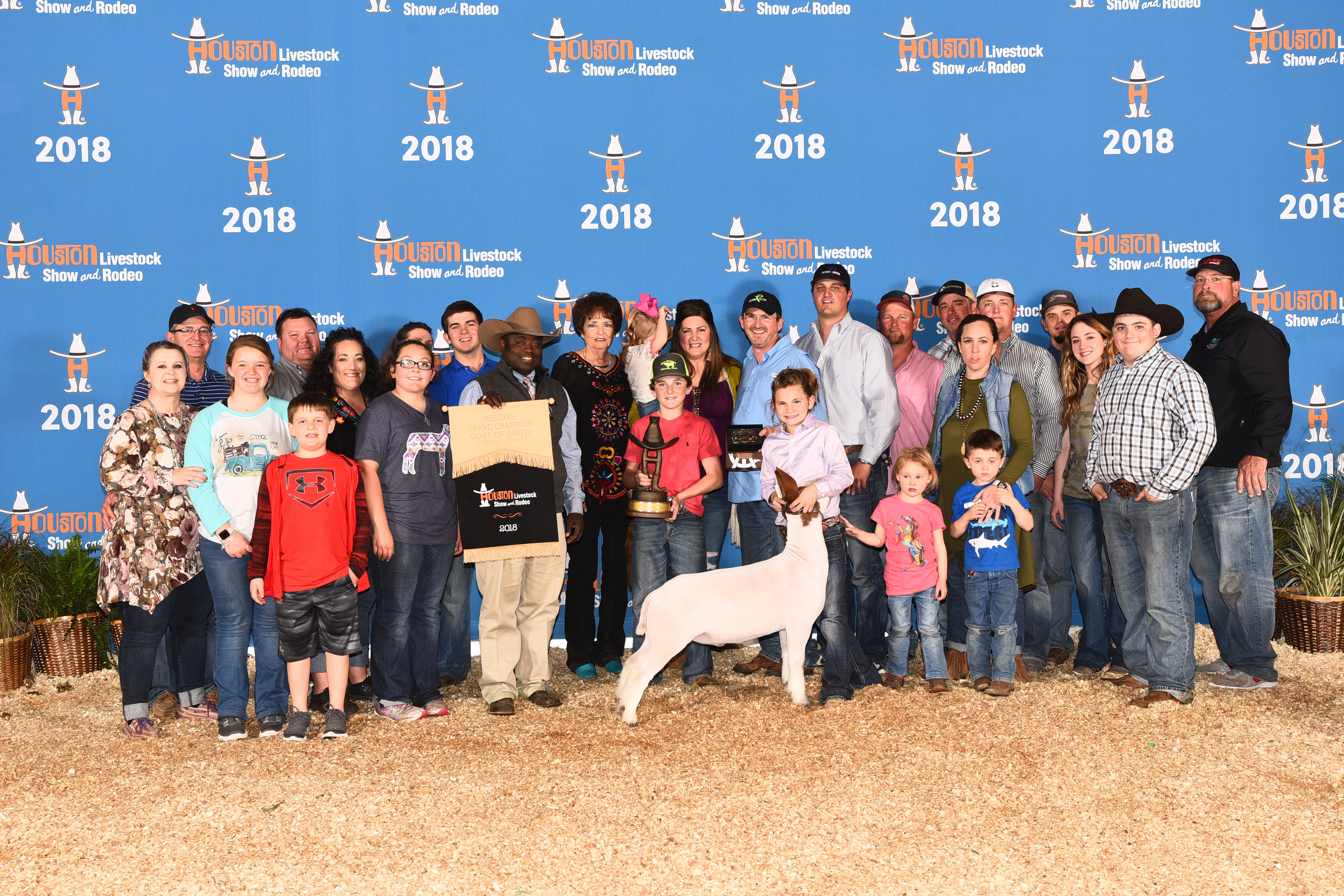 10-year-old Cydnee Jo Hanslik of Jim Ned won Reserve Grand Market Goat at the Houston Livestock Shows and Rodeo