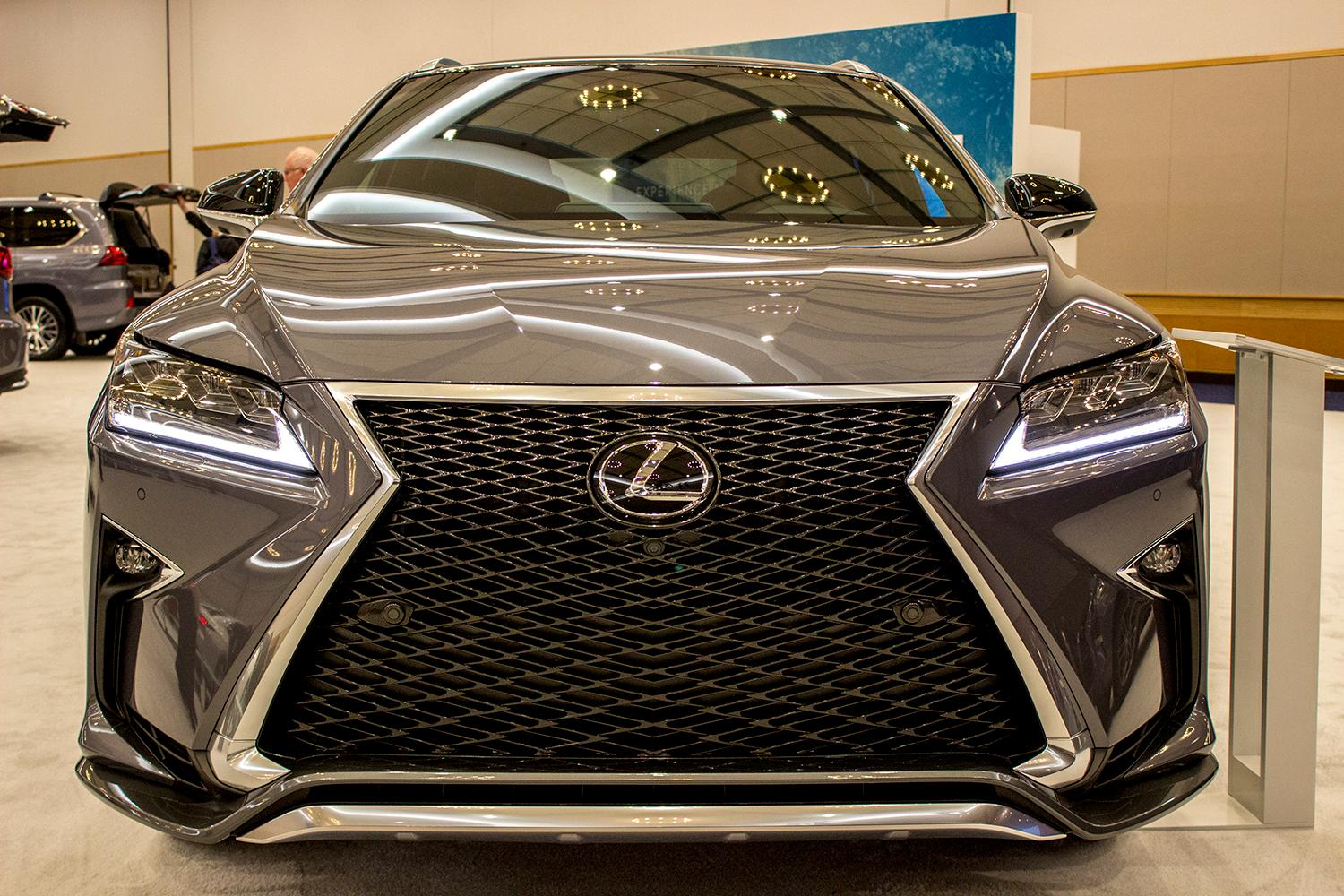 Lexus 2017 RX 350 F-Sport - The Portland International Auto Show began at the Oregon Convention Center on Jan. 25, 2018. The event drew prospective buyers and others who enjoyed looking at and comparing vehicles. Photo by Amanda Butt