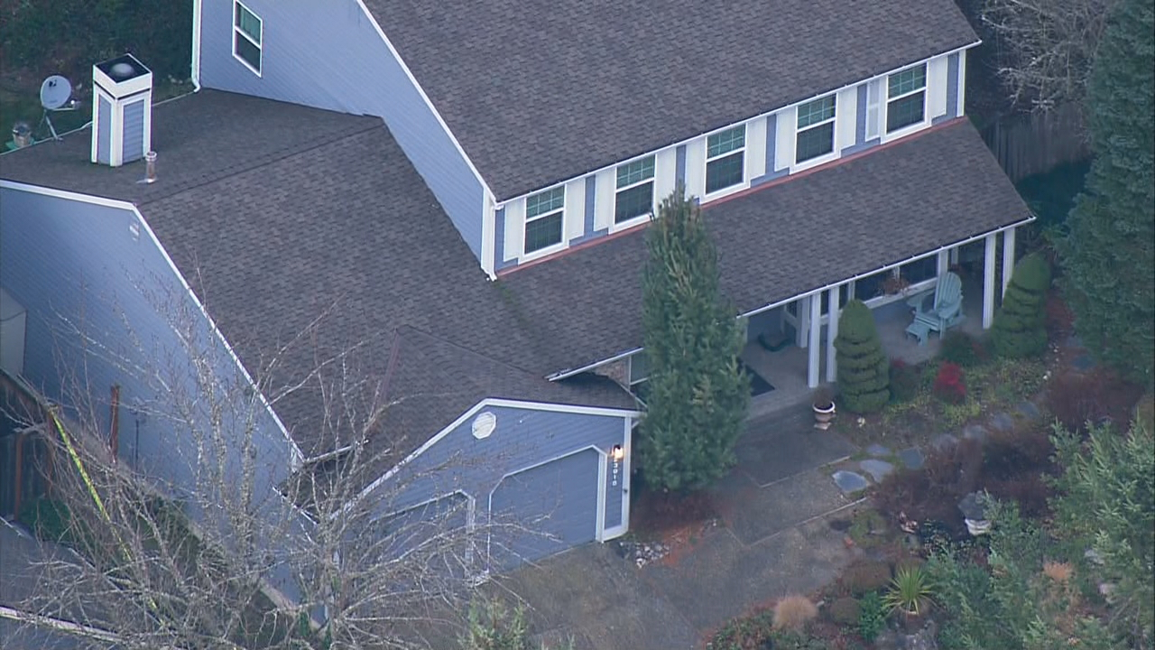 KOMO News file photo shows the home where the bodies were found.
