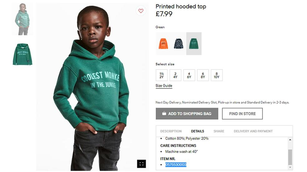 The weeknd dumps hm after monkey sweatshirt ad wjla an undated photo of an advert for a hoodie by hm clothing giant hm has apologized monday jan 8 2017 and removed an advertising image of a black model gumiabroncs Choice Image