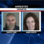 Two suspects arrested in Veneta on charges of meth and weapon possession