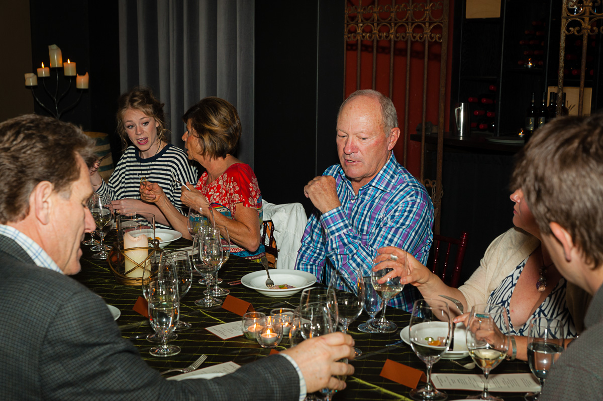 Dick Boushey at the winemaker dinner in his honor at JM Cellars. (Image: Courtesy Richard Duval)