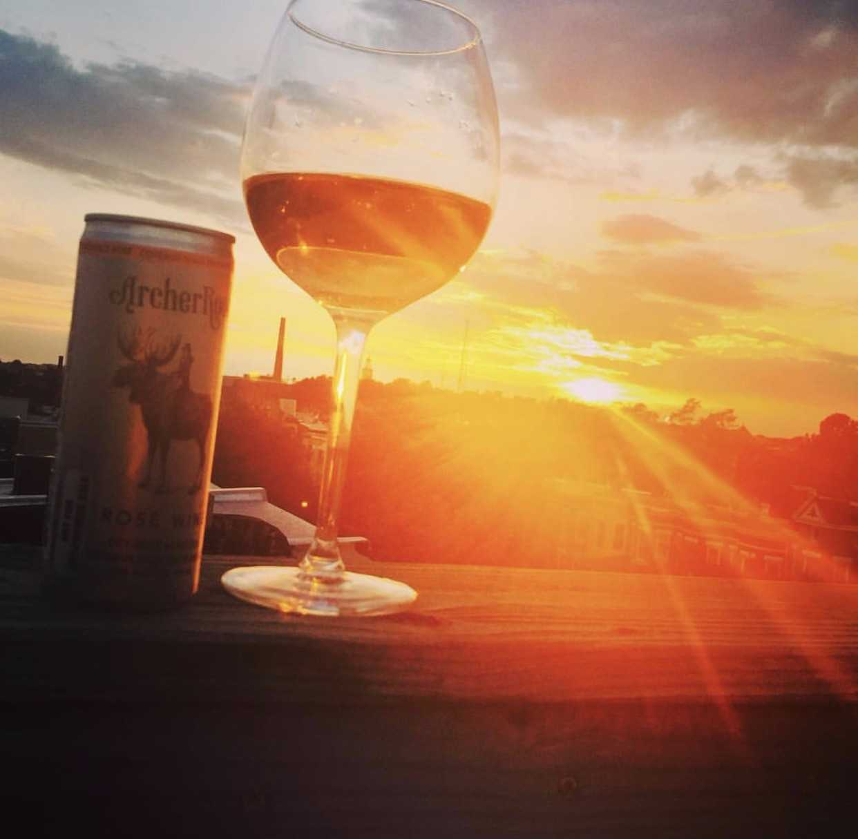 Rosé all day this summer in Bloomingdale. (Image via @canuck_dc)