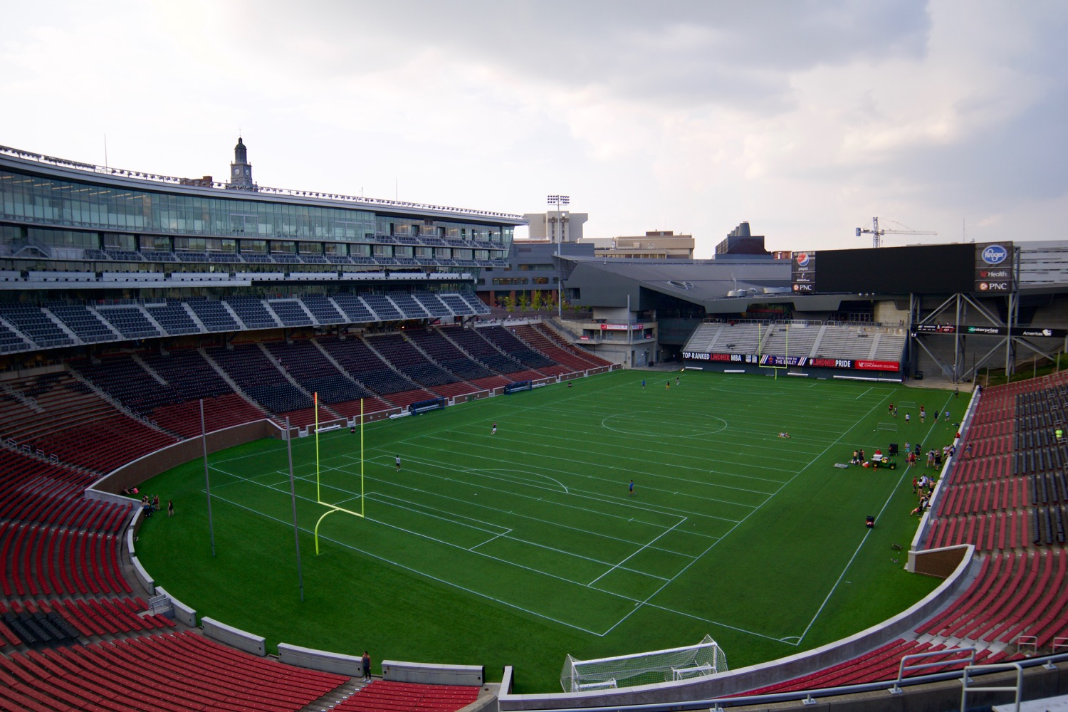 2. IT WAS BUILT ON A LAGOON: The original 1895 plans called for an athletic field to be built in Burnet Woods because the land where Nippert now sits was a lagoon. Ultimately, the lagoon was filled in and built anyway due to the location's popularity with the students. / Image: Brian Planalp // Published: 10.21.17<p></p>