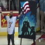 VIDEO: Performer sings national anthem while painting before Walleye game