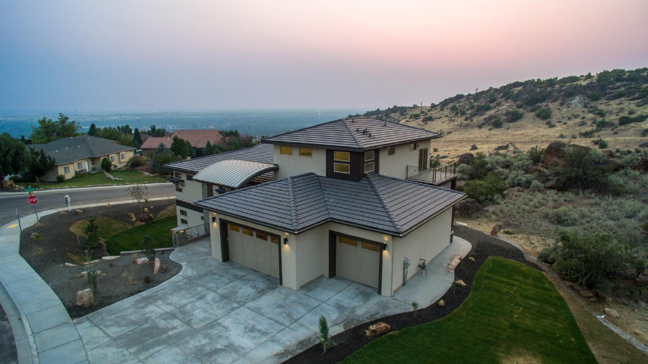 "Called ""The Lifestyle,"" this $1.195 million, five bedroom and four bathroom Boise foothills home has an amazing view of the valley. Totaling 5,100 square feet, this home features custom modern fixtures and interior design. Check out the kitchen and media room!  Photos and home information courtesy of: Jeni Barr, Silvercreek Realty Group, 208.869.4171, www.JeniBarr.com"