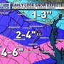 Snow may cause tricky travel conditions in the DMV this weekend