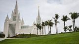 Image with LDS temple, terrorist, circulating online