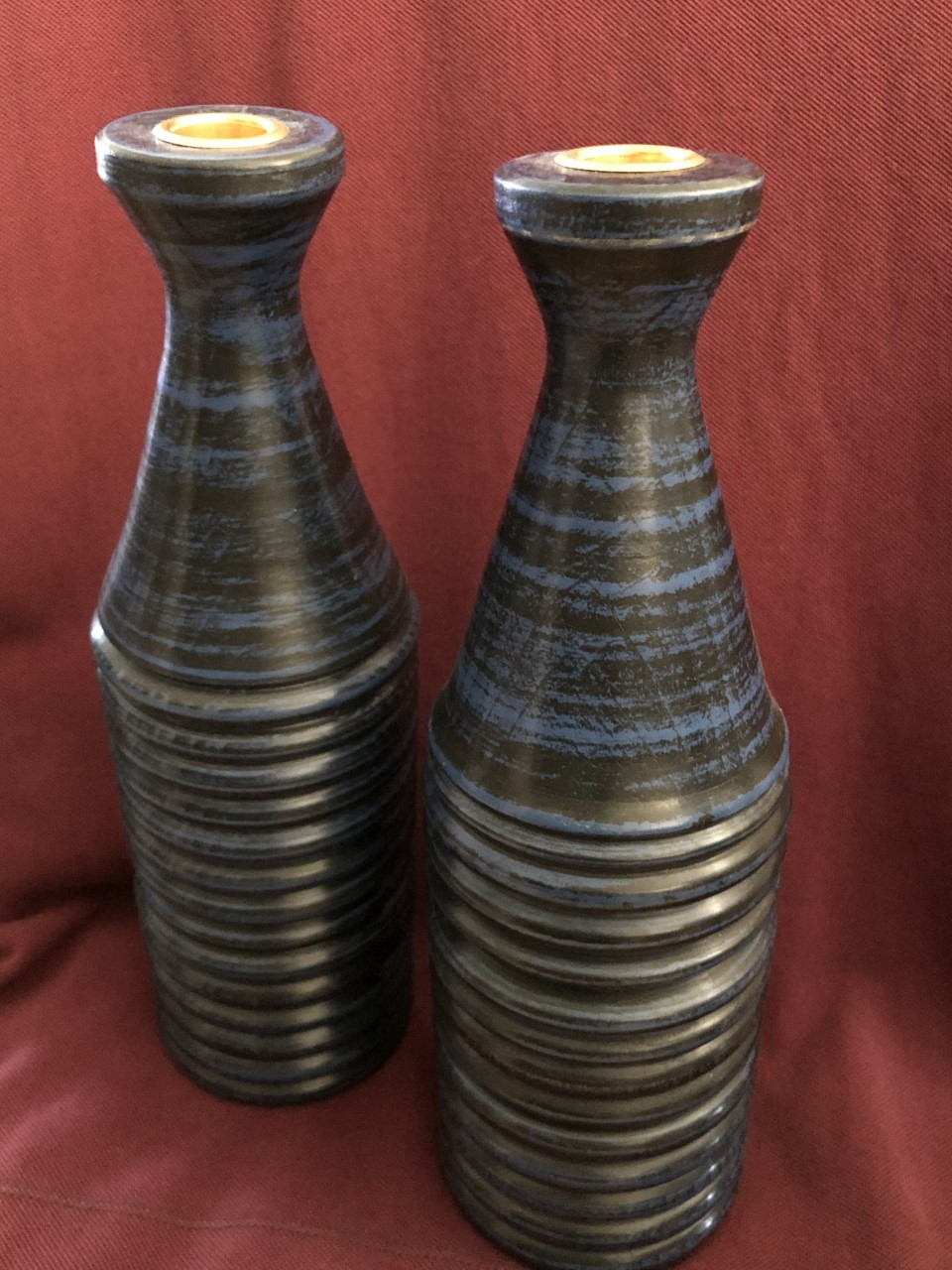 Candle holders by Monica Bluestein, a five-year woodturning veteran.{ }/ Image courtesy of the Ohio Valley Woodturners Guild // Published: 4.18.19