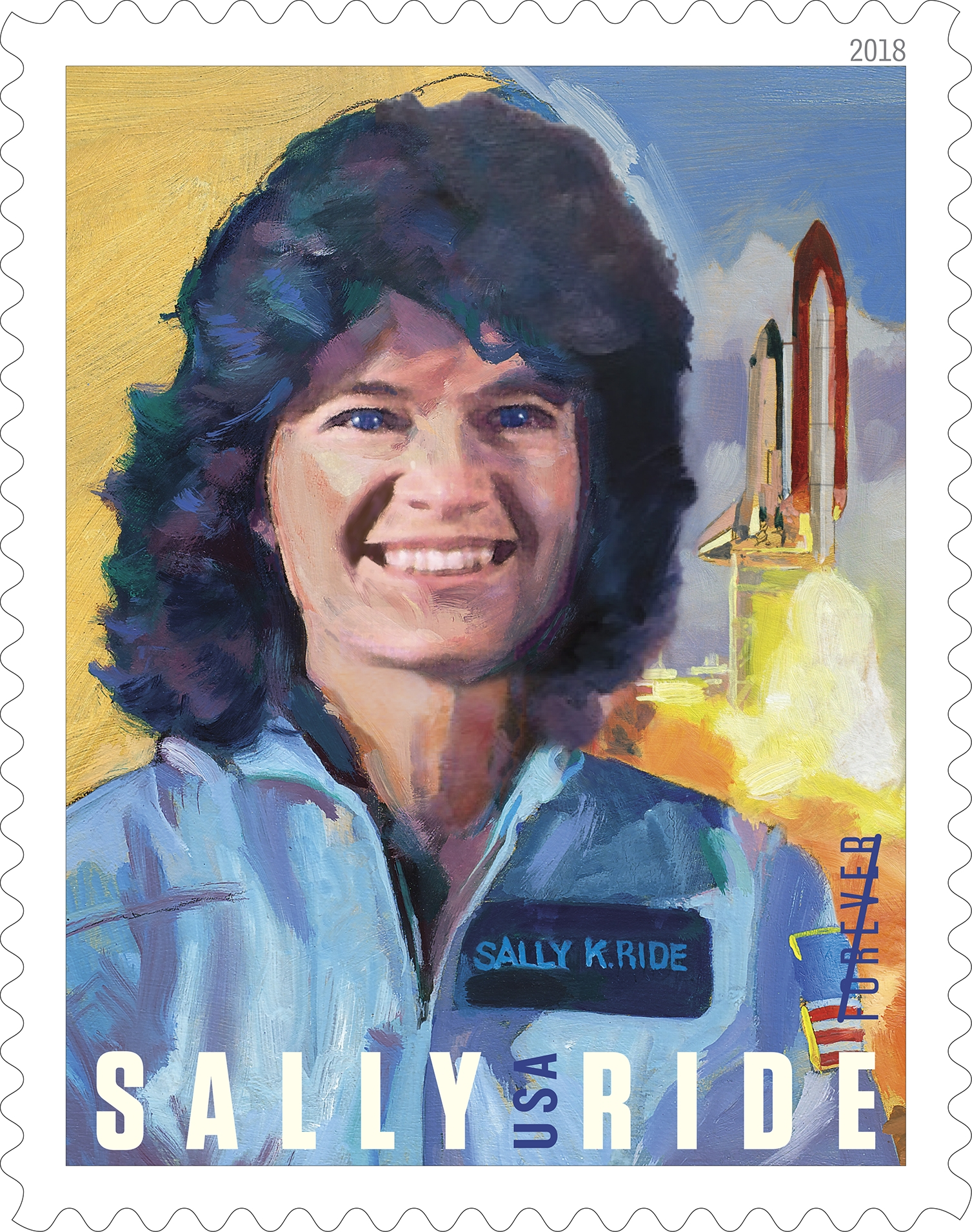 Sally Ride: America's first woman in space, Sally Ride (1951–2012), inspired the nation as a pioneering astronaut, brilliant physicist and dedicated educator. (USPS)