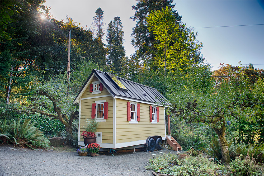The Bayside Bungalow in Olympia, WA. (Photo by Christopher Tack, courtesy of the Tumbleweed Tiny House Company )