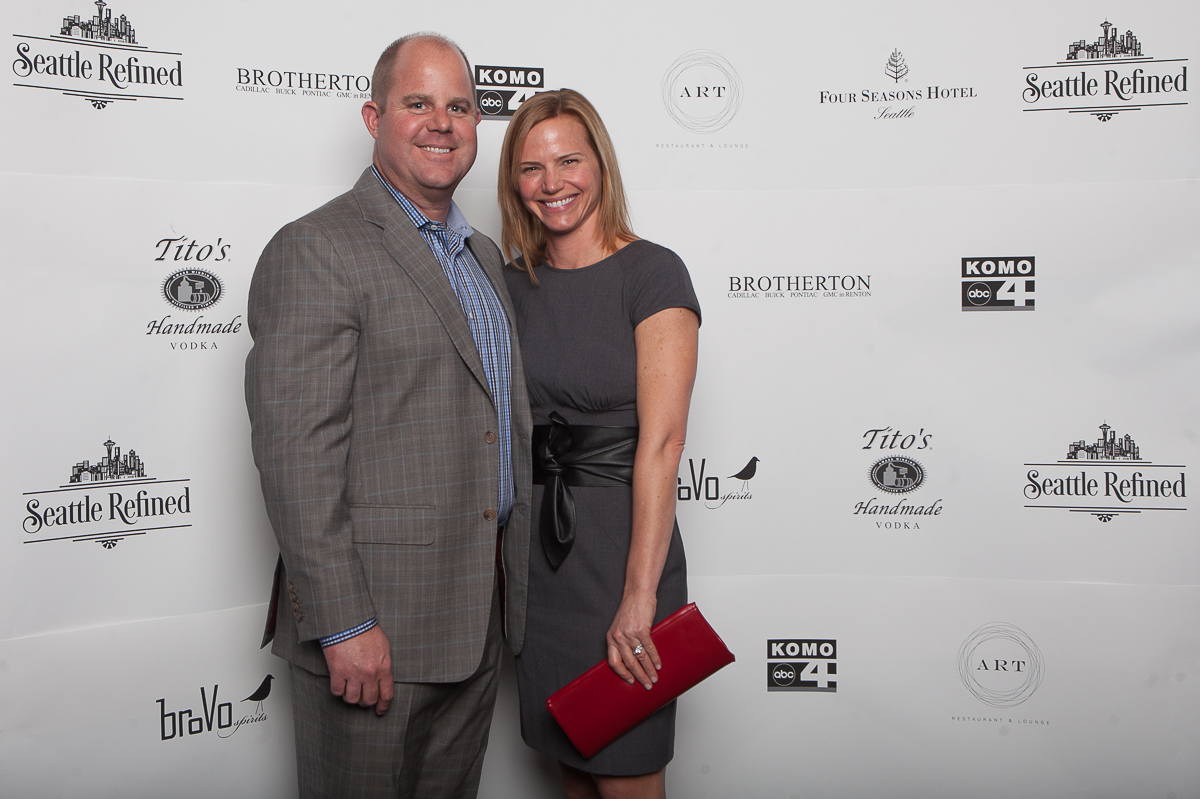 Brad and Amy Brotherton celebrate the launch of Seattle Refined at the Four Seasons. (Image: Joshua Lewis / Seattle Refined)