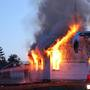 Fire destroys Old Friends School House in Casco