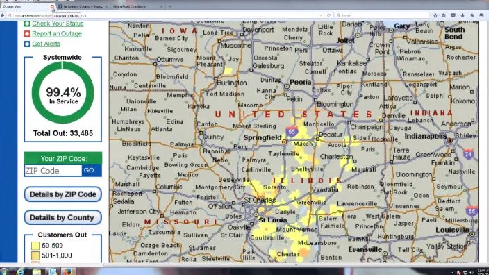 Power Outages Across Central Illinois | WICS