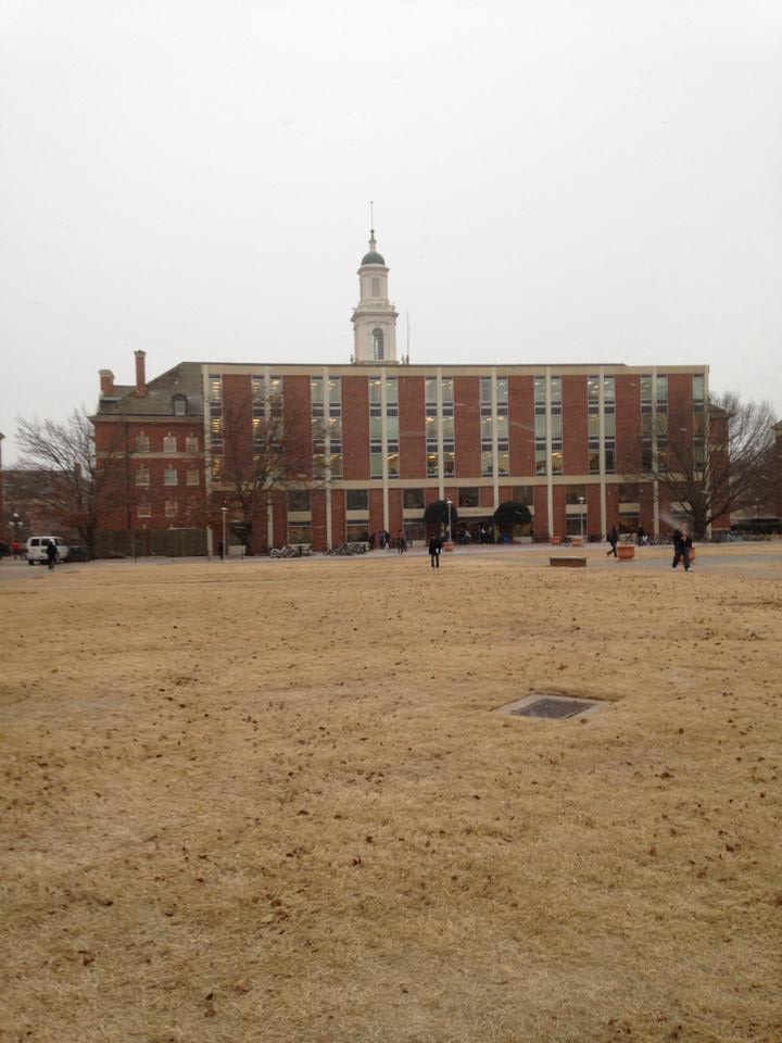 Snowing at Oklahoma State University