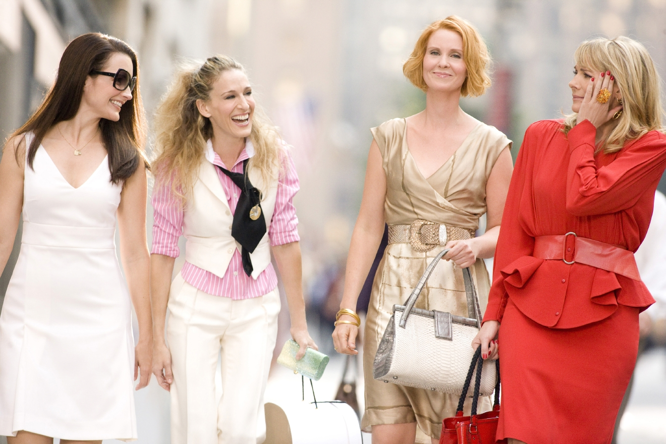 Still image from the film 'Sex and the City 2' Featuring: Sarah Jessica Parker,Kim Cattrall,Cynthia Nixon,Kristin Davis Where: New York City, New York, United States When: 14 Jun 2013 Credit: WENN.com